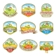 Labels with the Image of a Lovely Farm - GraphicRiver Item for Sale