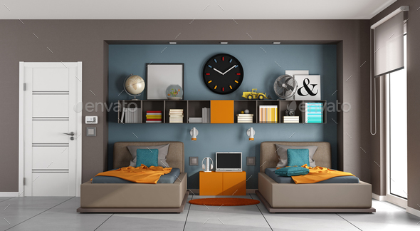 Colorful kids room - Stock Photo - Images