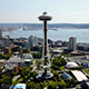 Seattle Space Needle Aerial 4K - VideoHive Item for Sale