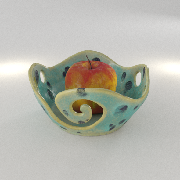 Fruit Pottery Ceramic Wave Vase - 3DOcean Item for Sale