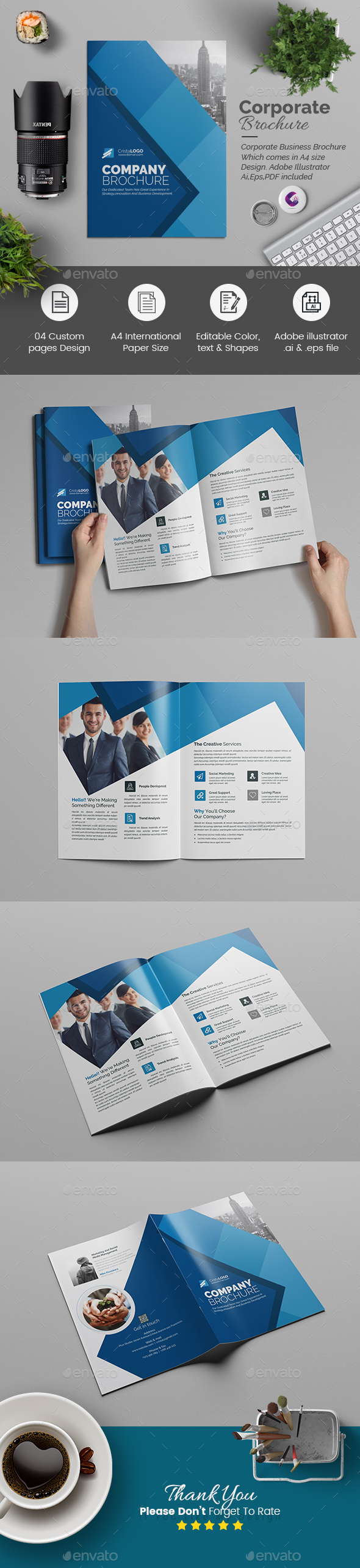 Bi fold Multipurpose Brochure - Corporate Brochures