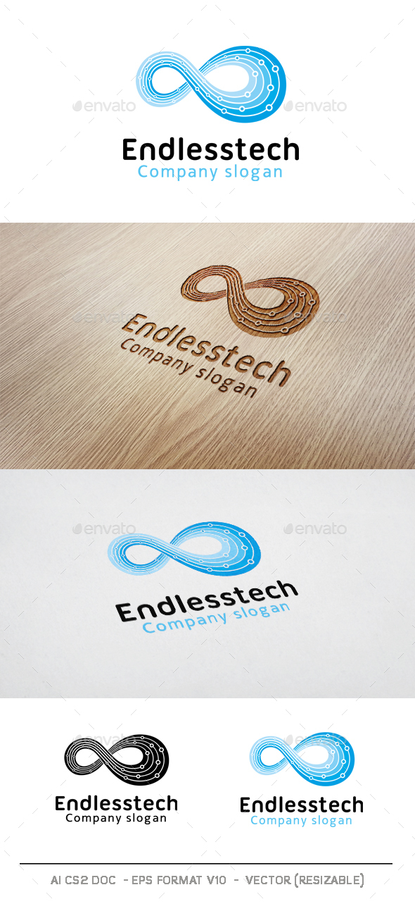 Endless Technology Logo - Abstract Logo Templates