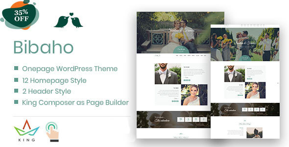 Bibaho - Wedding WordPress Theme - Wedding WordPress