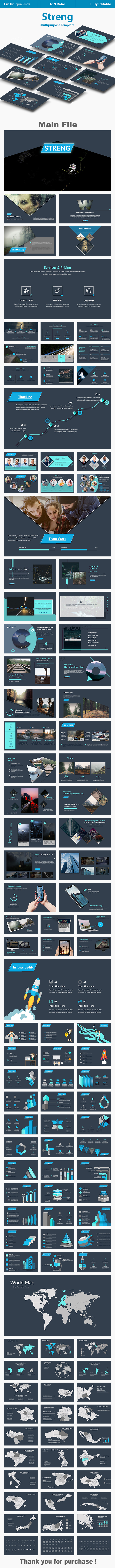 Streng Multipurpose Keynote Template - Creative Keynote Templates