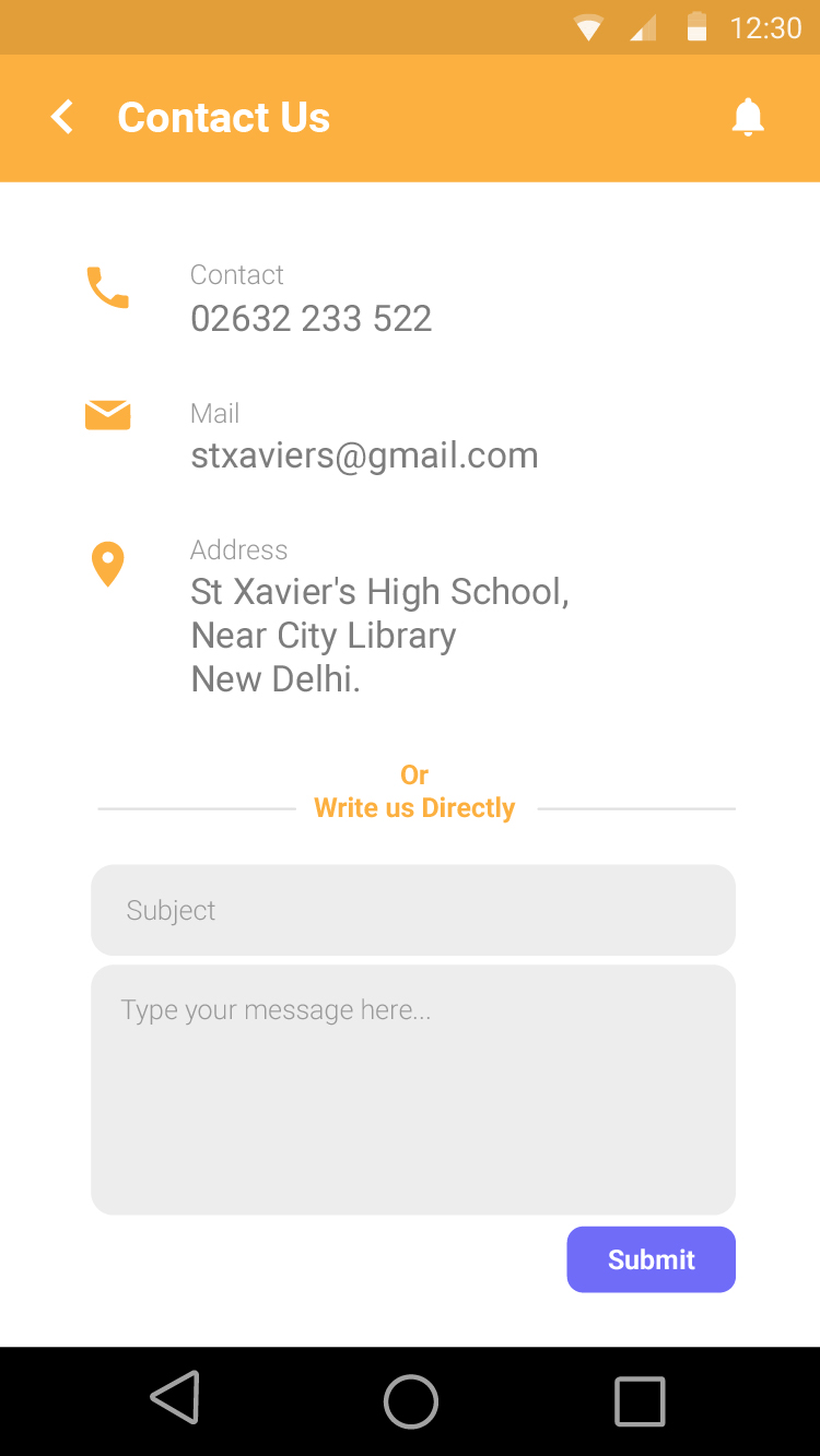 school bus tracking android app xml code template by opuslabsin