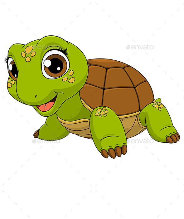 Cheerful Child Turtle - Animals Characters