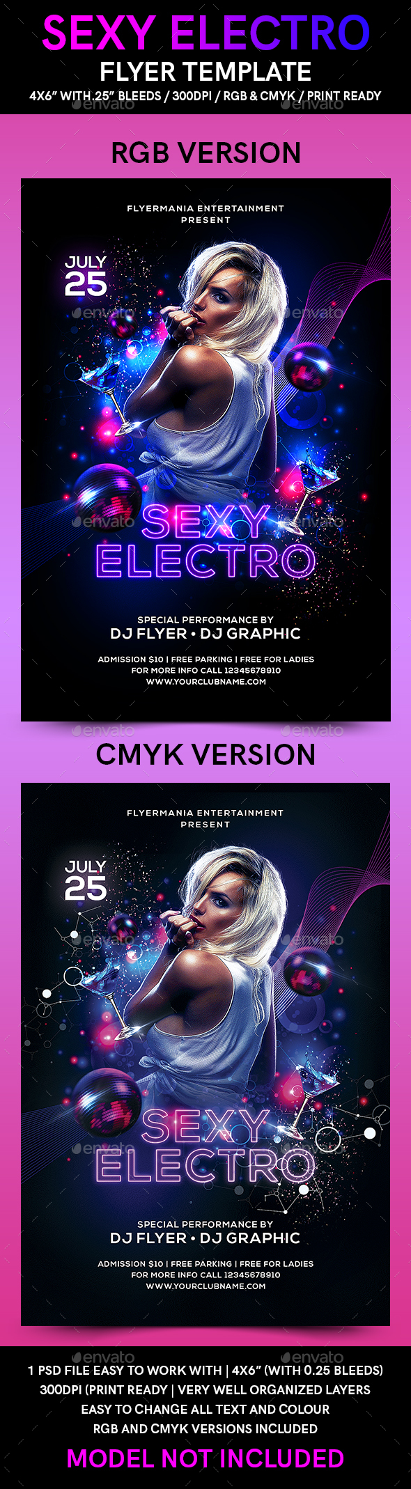 Sexy Electro Flyer Template By Flyermania Graphicriver