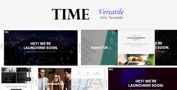 Time - Versatile Intro Template - Specialty Pages Site Templates