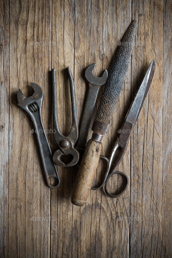 old hardware tools - Stock Photo - Images