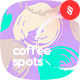 Multicolored Dirty Coffee Spots Seamless Patterns / Backgrounds