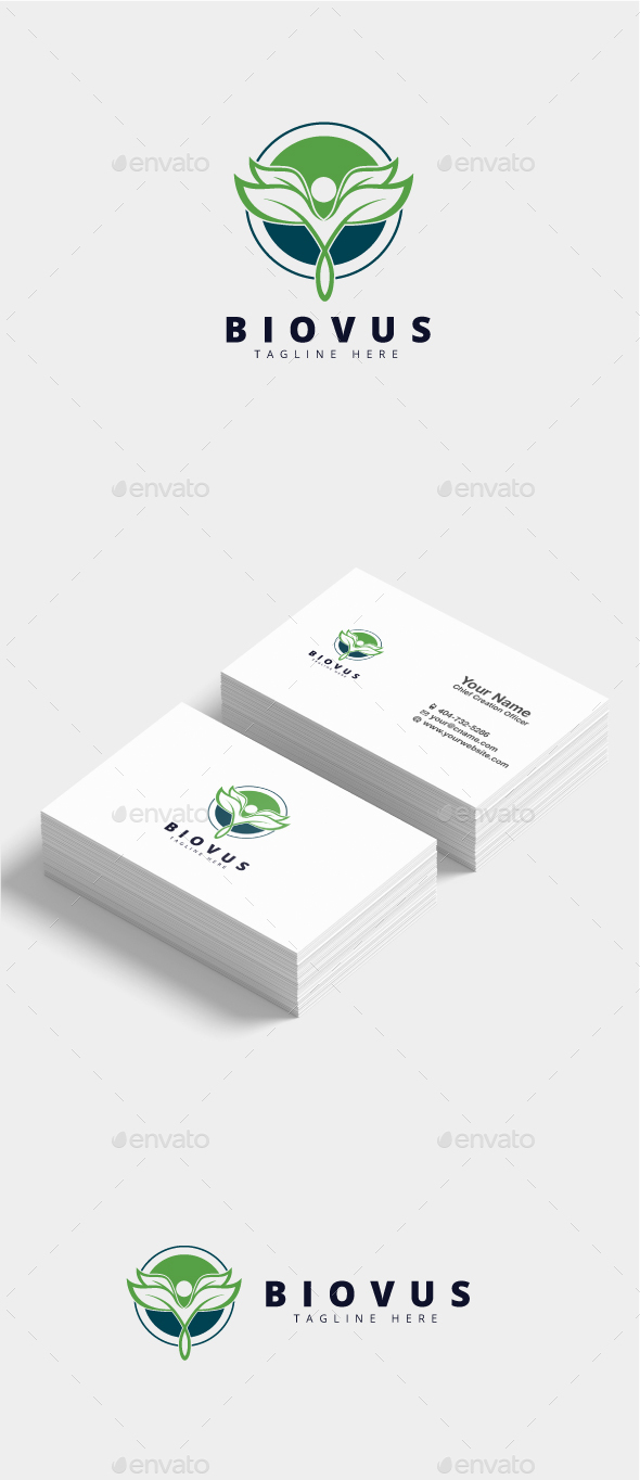 Biovus Health Logo - Nature Logo Templates