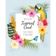 Vector Card with Macaw and Flowers - GraphicRiver Item for Sale