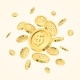 Realistic Gold Coin Explosion or Splash on White - GraphicRiver Item for Sale