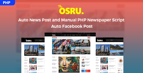 Osru - Auto News Post and Manual PHP Newspaper Script | Auto Facebook Post - CodeCanyon Item for Sale