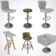 Chair Bar Stool 001 - 3DOcean Item for Sale