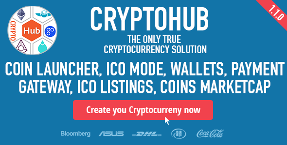 CryptoHub: Coin Launcher | ICO System | MultiCrypto Wallets | CryptoExchange | Payment Gateway - CodeCanyon Item for Sale