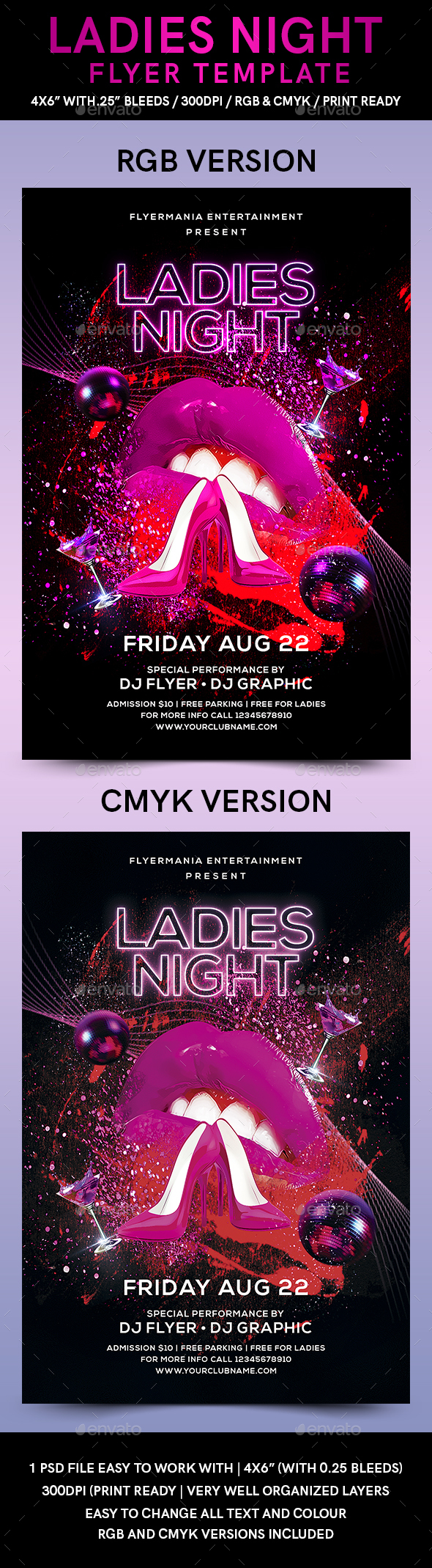 Ladies Night Flyer Template - Flyers Print Templates