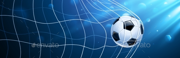 Soccer Ball in a Grid - Sports/Activity Conceptual