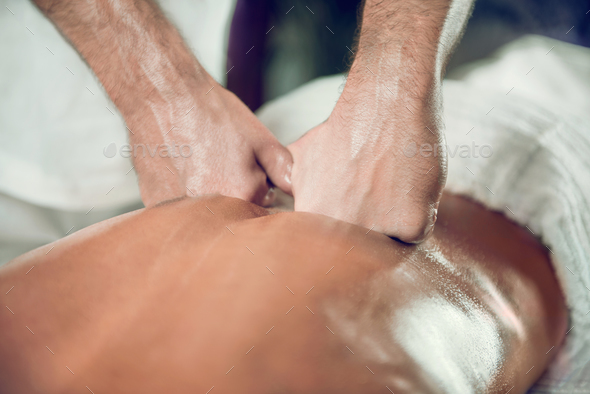 Relaxing Back Massage - Stock Photo - Images