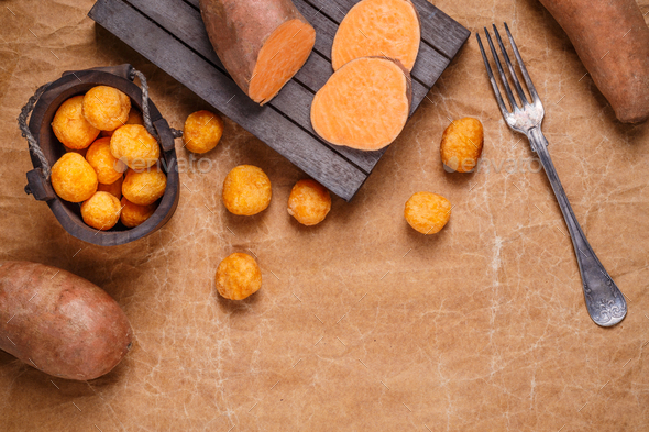 Sweet potato croquettes - Stock Photo - Images