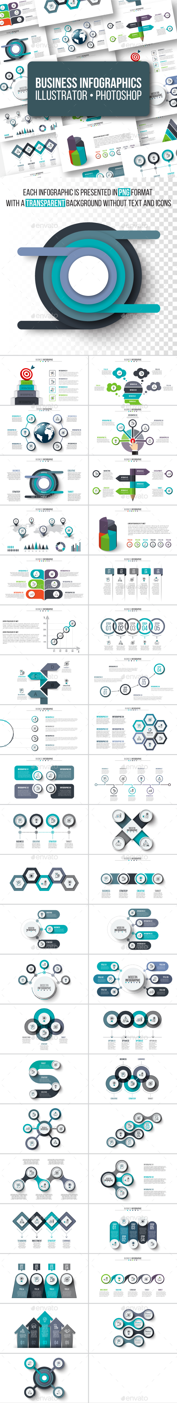 Business infographics pack - Infographics