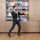 Happy and Successful Businessman Dancing in the Office - VideoHive Item for Sale