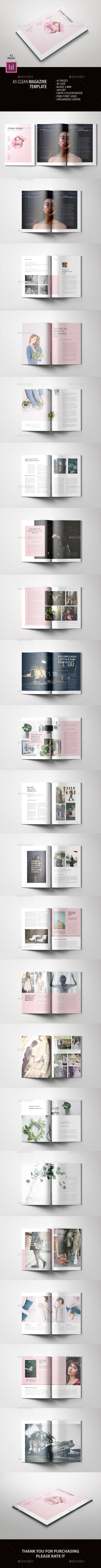 A5 Clean Magazine Template - Magazines Print Templates