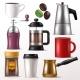 Coffee Cup Vector Mug for Hot Espresso