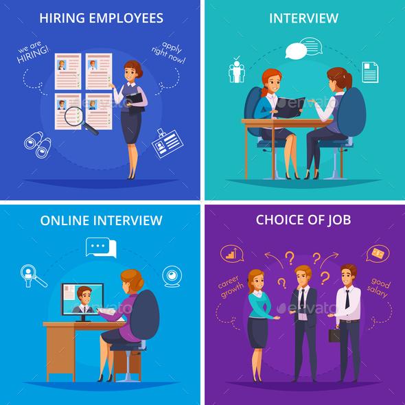 Recruitment Flat Design Concept - Concepts Business