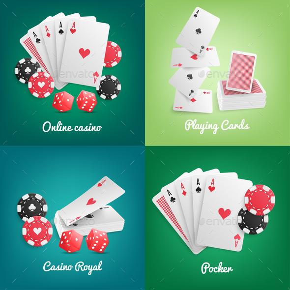 Casino Online Realistic Concept - Miscellaneous Vectors