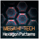 Mega Hi-Tech Hexagon Patterns - GraphicRiver Item for Sale
