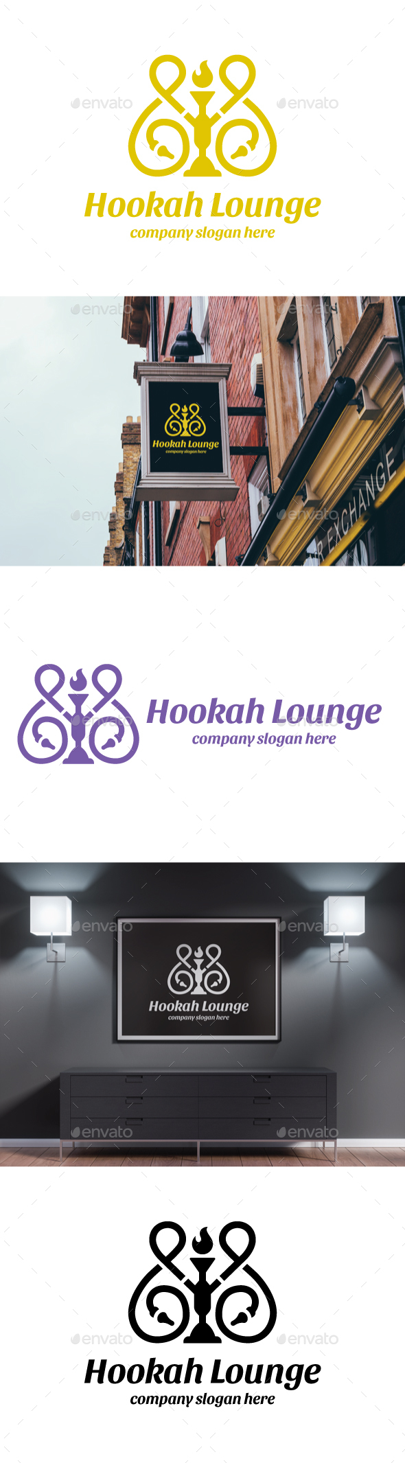 Hookah Lounge - Objects Logo Templates