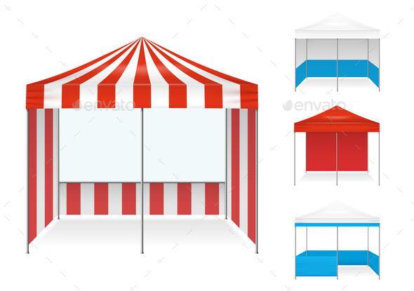 Tent Examples Realistic Set - Miscellaneous Vectors