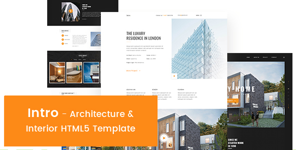 Image of Intro - Architecture & Interior HTML5 Template