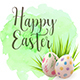 Easter Greeting Card with Eggs - GraphicRiver Item for Sale