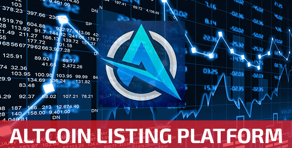 ALTmonitor - Altcoin Listing Platform - CodeCanyon Item for Sale
