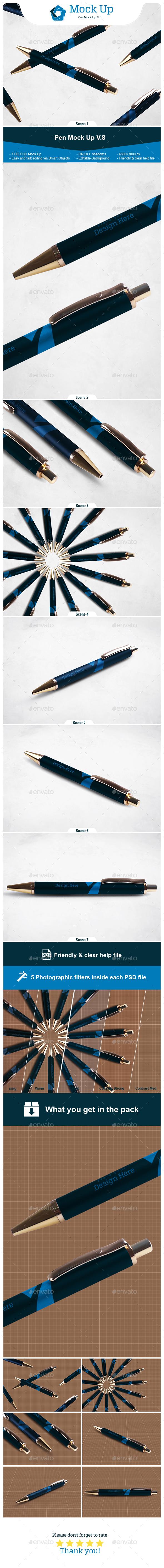 Pen Mock Up V.8 - Logo Product Mock-Ups