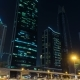 Car Traffic on Sheikh Zayed Road at Night in Downtown, Burj Khalifa Dubai Mall Metro Station - VideoHive Item for Sale