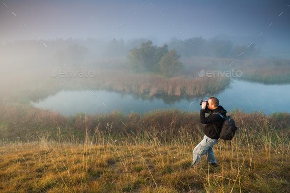 Man hiking - Stock Photo - Images