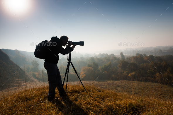 Nature photographer - Stock Photo - Images