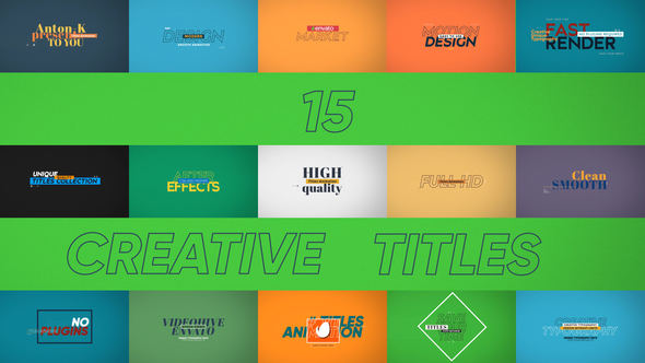 15 Creative Titles (Titles) After Effects Templates | F5