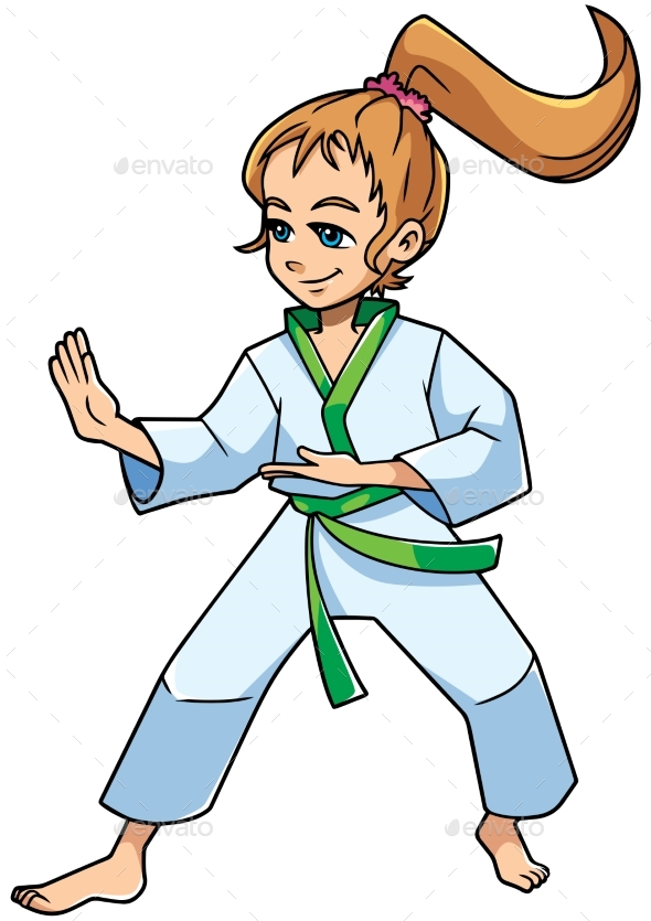 Karate Stance Girl - Sports/Activity Conceptual