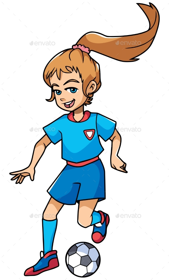 Football Playing Girl - Sports/Activity Conceptual