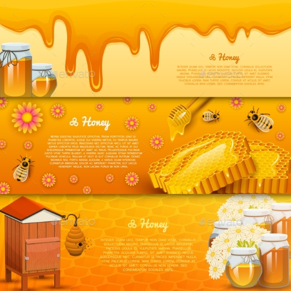 Honey or Natural Farm Product - Food Objects