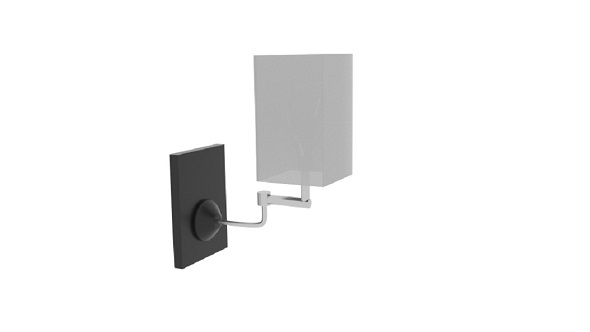 Wall Lamp Curve Square - 3DOcean Item for Sale
