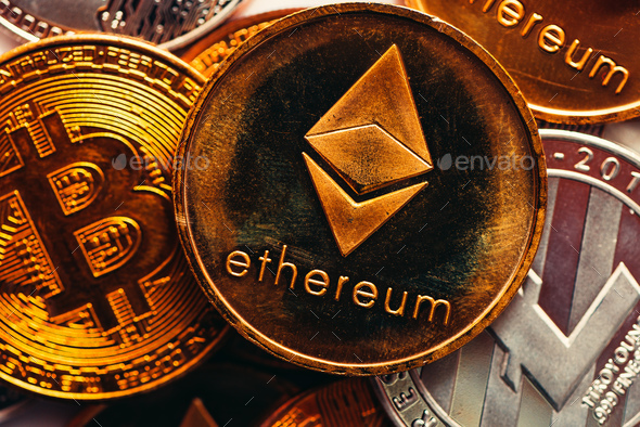 Ethereum and Bitcoin - Stock Photo - Images