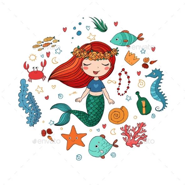 Marine Illustrations Set - Animals Characters