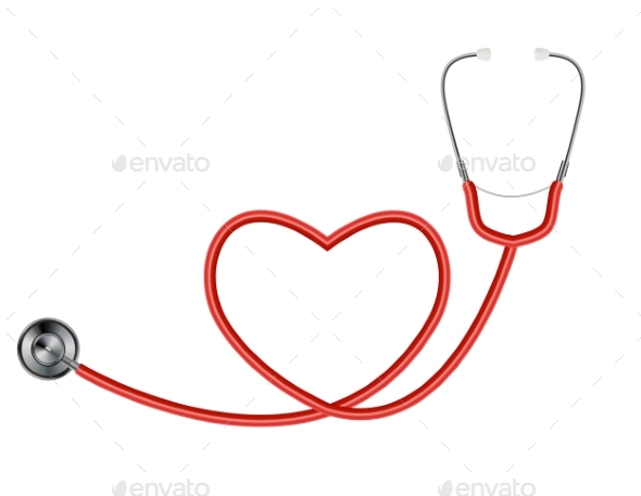 Medical Tool Stethoscope Isolated on White - Health/Medicine Conceptual