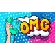OMG Word Bubble in Pop Art Comics Style. - GraphicRiver Item for Sale