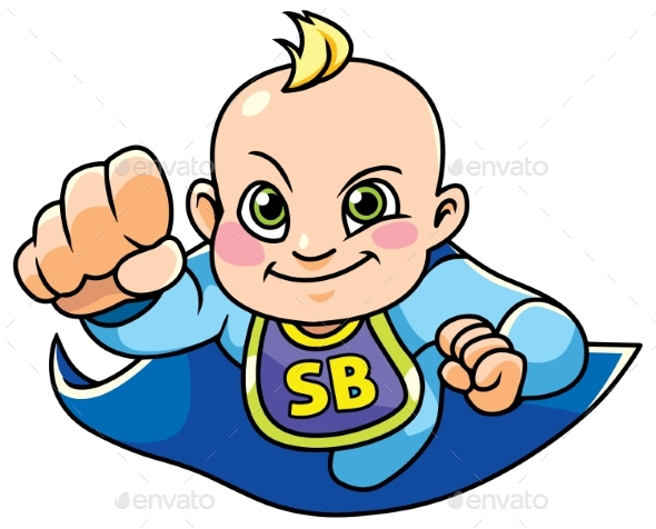 Super Baby Boy Flying - People Characters